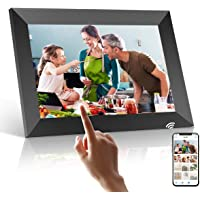 Digital Photo Frame Wifi, PODOOR 10.1 inch Digital Picture Frame with 1080P Touch IPS Screen, 16GB Storage Auto-Rotate…