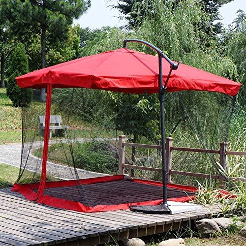 Hspoup Outdoor-Camping 9/10FT Patio Regenschirm Schirm Regenschirm mit Moskito Netz Camping Zelte Outdoor Patio Netting Canopy Mesh (Schwarz Canopy-netz Für Bett)