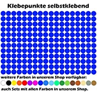 1300 Klebepunkte a 15mm in Königsblau. Kreis Punkt selbstklebend Aufkleber Inventur Kreise Folie