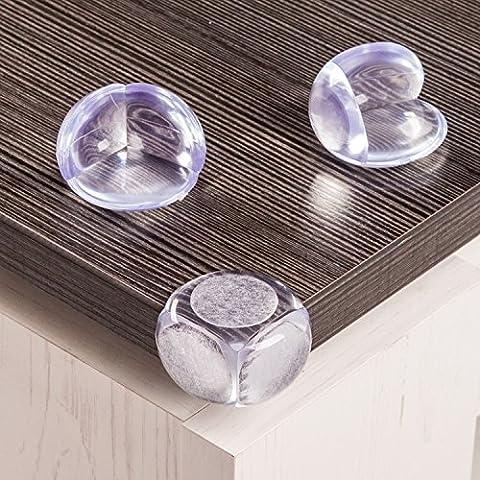 KIDUKU® Protection de coins Bébé de Sécurité Protection d'angle Sécurité enfant Coussin de protection Coins de protection, 12 pièces, transparent