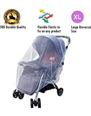 Kiddale Polyester Baby Stroller Mosquito and Bug Net (White)