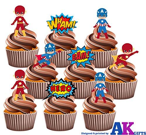pack-de-fete-36-x-36-x-super-hero-super-heros-captain-america-flash-gordon-melange-comestibles-cup-c