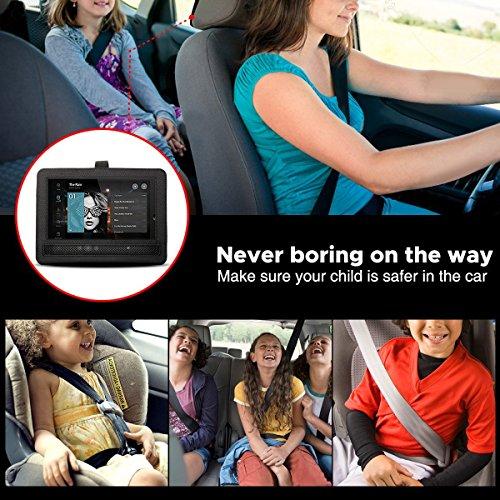 Auto KFZ Kopfstützenhalterung Kopfstütze Halterung, RUISIKIOU Auto Kopfstützenhalterung für Drehgelenk & Flip Tragbarer DVD Player KFZ Kopfstütze Halterung Gehäuse (9-9.5 Zoll ) - 8