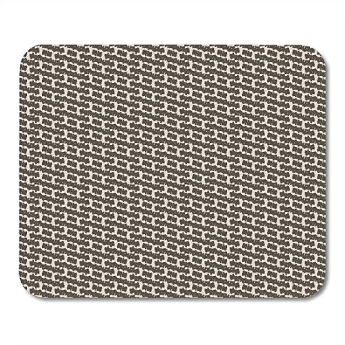 Deglogse Gaming-Mauspad-Matte, Carpet Brown Add Wool Detail with Broken Oblique Stripes Twill Abstract White Alternate Dark Mouse Pad -