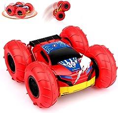 Baztoy Ferngesteuertes Auto KinderSpielzeug Jungs RC Stunt Car Gelände Rennwagen