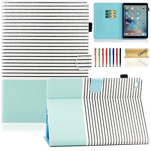 Dteck iPad Mini 4. Generation Fall, iPad Mini 4Retina Case, [DREI Schicht] Cabrio [Heavy Duty] Robuste Hybrid Full Body Schutzhülle mit Standfuß für iPad Mini 4Modell A1538/A1550#00 Black Stripe