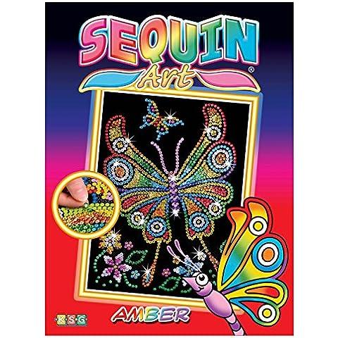 KSG 1209 - Junior Sequin Art, l'arte delle paillettes, motivo: farfalla