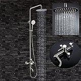 GuoEY Zxy-Lead-Doccia Gratuita in acciaio inossidabile di cui sopra per mano di ascensore Spray doccia Vasca Da Bagno Bagno Doccia con Acqua Calda