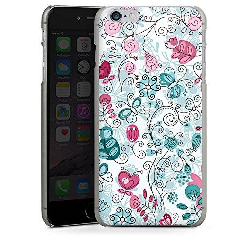 Apple iPhone X Silikon Hülle Case Schutzhülle Schmetterlinge Ranken Blumen Hard Case anthrazit-klar