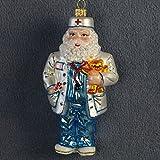 Christbaumschmuck Figuren Glas ( Weihnachtsmann Santa Doktor 13cm ) // Weihnachtskugeln Weihnachtsbaumschmuck Christbaumkugeln Deko Glas Glashänger