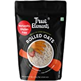 True Elements Rolled Oats for Weight Loss 500gm - Gluten Free Oats, Diet Food, Cereal for Breakfast