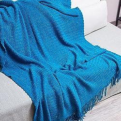 """QIYUN.Z 130 centimetri * 150 centimetri all'uncinetto pianura nappe tiro coperta morbido divano decorativo divano copridivano copertura della sedia (51""""* 59"""")"""