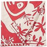 SonnenStrick 30097 Panda Babydecke/Erstlingsdecke/Schmusedecke/Schlafdecke aus 100% Bio Baumwolle kba 80 x 80 cm, rot