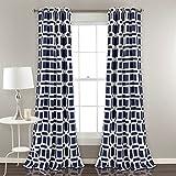 "Best Lush Decor Home Fashion Kids - Lush Decor Window Curtain Panel Pair, Navy, 84"" Review"