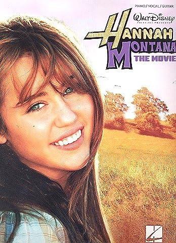 HANNAH MONTANA - The Movie (Selections) Songbook piano/vocal/guitar mit Bleistift -- enthält die beliebtesten Songs aus dem Disney-Film arrangiert für Klavier, Gesang und Gitarre - Noten/sheet music