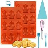 Moules à Madeleines en Silicone à 9 Trous Moule Forme Gâteau Cannelé Résistance Aux Hautes Températures pour gâteau, gelée, p