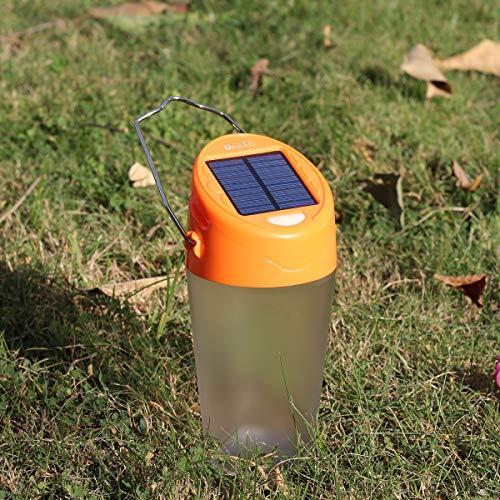 OxyLED Solar Camping Laterne,Wasserdicht Solar Tragbare LED Camping Laterne,Helle Solar und USB Wiederaufladbar Campinglampe,2 Modi Solar Außenleuchten Taschenlamp für Nachtfischen,Jagen,Zelt,lesen