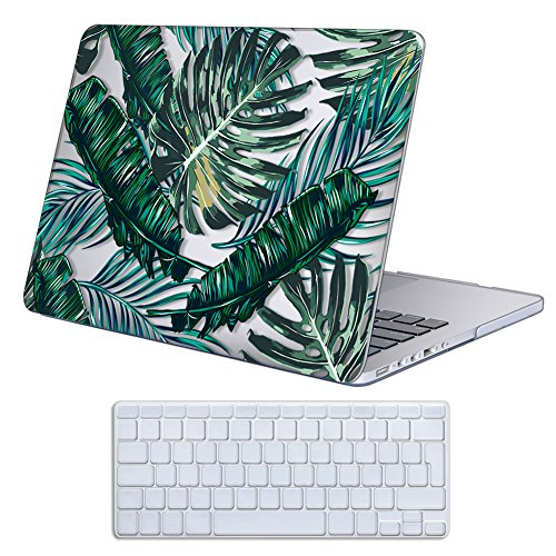 Cover MacBook Pro 13 Retina Costodia , iCasso Palm Leaf Ultra Sottile Plastica Rigida Shell Snap On Duro Case per MacBook Pro 13 pollici Retina (Modelli: A1425 / A1502)