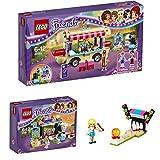 Lego Friends Freizeitpark 3er Set 41127 41129 30399 Spielspaß im Freizeitpark + Hot-Dog-Stand + Bowling-Bahn - sofort lieferbar!