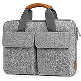 Inateck 15,6 Zoll Graue Laptop-Hülle, Tasche, Filz Aktentasche kompatibel mit 15-15,6 Zoll Laptops,...