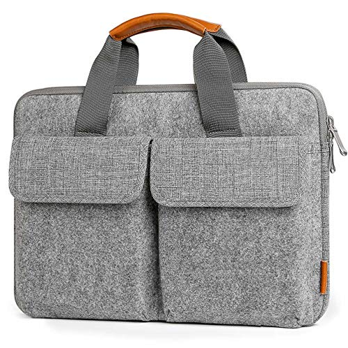 Inateck Custodia tipo sleeve in feltro 15,6 pollici, manicotto per 15-15,6'' laptops, Notebooks, Ultrabooks.Business scuola borsa, grigio