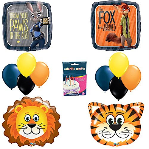 9 OFF On Zootopia Birthday Party Balloon Decoration Kit Amazon