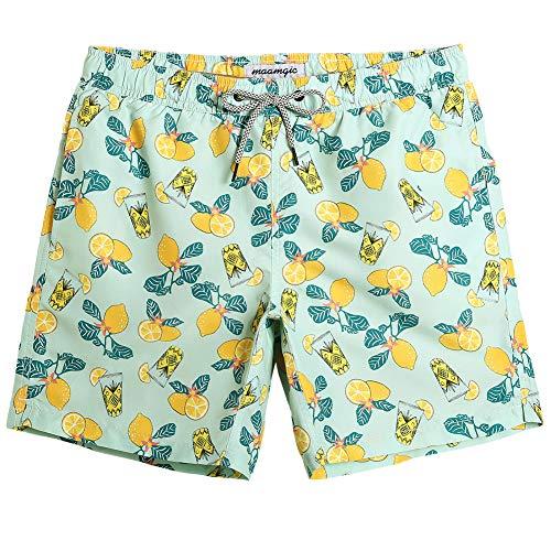 ose Sommer Badeshorts für männer Jungen Badehose Schwimmhose Schnelltrocknend Kurz Vielfarbig Beachshorts MEHRWEG Zitrone Gelb XXL ()