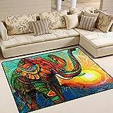 ingbags Super Weich Moderner Azteken Elefant Sonne, Ein Wohnzimmer Teppiche Teppich Schlafzimmer Teppich für Kinder Play massiv Home Decorator Boden Teppich und Teppiche 160x 121,9cm, multi, 80 x 58 Inch