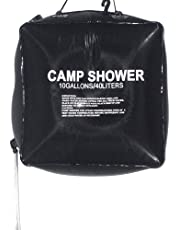 HomeFast Outdoor Camping Shower Bag 40Liters/10Gallons for Hiking & Camping (Black)