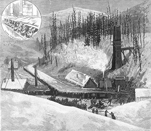 Colorado Iron (Coal Mine Explosion 1884. /Nscene In Crested Butte Colorado Following An Explosion At A Mine Operated By The Colorado Coal And Iron Company 24 January 1884. Wood Engraving From A Contemporary American Newspaper. Kunstdruck (45,72 x 60,96 cm))
