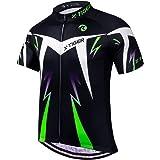X-TIGER Maillot de Cyclisme Hommes Manches Courtes VTT Jersey Maillot de Vélo Vetement Respirant Séchage Cyclisme Tee Shirt M