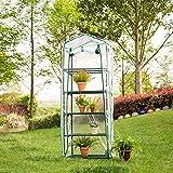 Garden copertura calda, giardino di ,100% impermeabile e anti UV | buona traspirabilità PVC di alta qualità calda pianti Garden Tier mini serra di ferro (senza supporto)