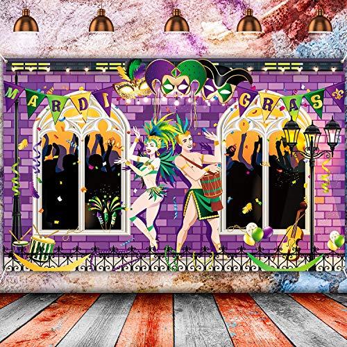 Halloween Party Dekorationen Hintergrund Party Hintergrund Halloween Hintergrund Party Banner Party für Halloween Party Dekor Wand Dekor (Lila Mardi Gras Hintergrund)