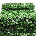 Sichtschutznetz Blätteroptik 300cm x 150cm Mauerabdeckung Sichtschutz Plane Netz von WilTec - Du und dein Garten
