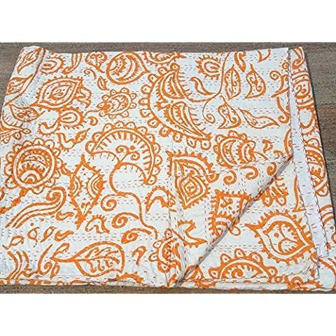Tribal cinese, stampa tribale Textiles-Piumone matrimoniale Kantha, Kantha Coperta per letto, Copriletto Kantha, Bohemian Bedding Kantha 228,60 cm (90