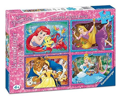 Disney Princesas Bumper Pack, puzzles 4 x 42 piezas (Ravensburger 06857)