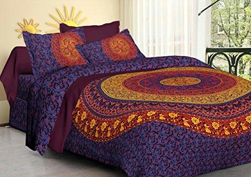 Baumwolle Queen-size-blatt-sets (ganesham- indischen Hippie Ombre Queen Tapisserie Doona, Überwurf Decken, Schlafzimmer Tagesdecke/Überwurf, Mandala Betten, Bettunterlagen, Indian wendbar Baumwolle Mandala Tapisserie King Size Bettbezug Set)