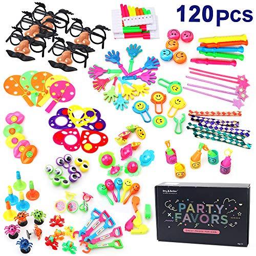 Amy & Benton 120 Set Kinder Geburtstag Party Favor & Giveaways Mix - Kleine Geschenke für Kids - Kids Party Give Aways & Pinata Spielzeug, Kleine Spielzeuge, Teile Werbegeschenk & Vieles Mehr
