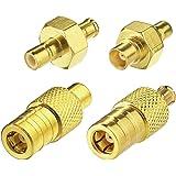 Eightwood DAB Antenne Adapter MCX naar SMB Adapter Kit SMB Male Kit 4 Autoradio DAB Antenne Adapter Compatibel voor DAB Radio