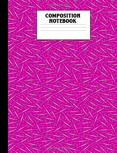 Composition Notebook: Pink Flute Pattern College Ruled Lined Comp Book -