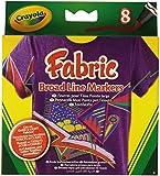 Crayola - 58-8179-E-200 - Feutre Pour Tissu - Pointe Large - 8 Pièces -Modèle aléatoire