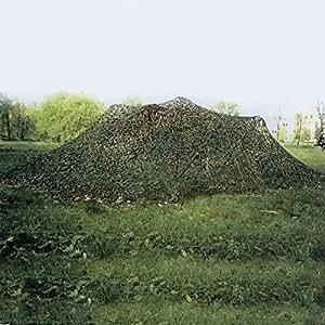 Muitobom Woodland Camo Filet de prise de vue du Filet de camouflage de l'armée militaire Camping Chasse Crème solaire Filet (3x 2m)