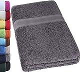 NatureMark SAUNATUCH PREMIUM Qualität 80x200cm Sauna-Handtuch 100% Baumwolle Farbe: Anthrazit grau