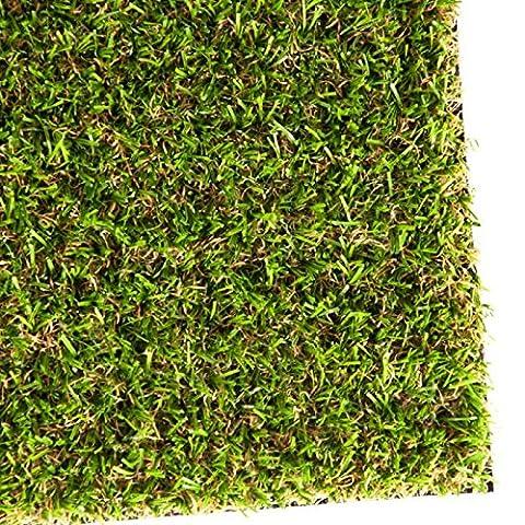 Gazon artificiel - pelouse synthétique pour terrassse, balcon etc. - poids 1800g/m² - 100x133cm