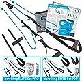 Umlenkrollen Schlingentrainer aeroSling® ELITE Plus, Hochleistungs Slingtrainer inkl. Fitness DVD von aerobis