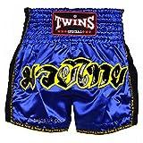 Twins special Pantalones Cortos de Muay Thai, diseño Retro, Color Morado, Hombre, Color Morado, tamaño Large