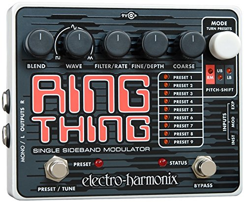 electro-harmonix Ring Thing Ring Thing Modulator Pedal - Pedal multiefecto para guitarra, color plateado