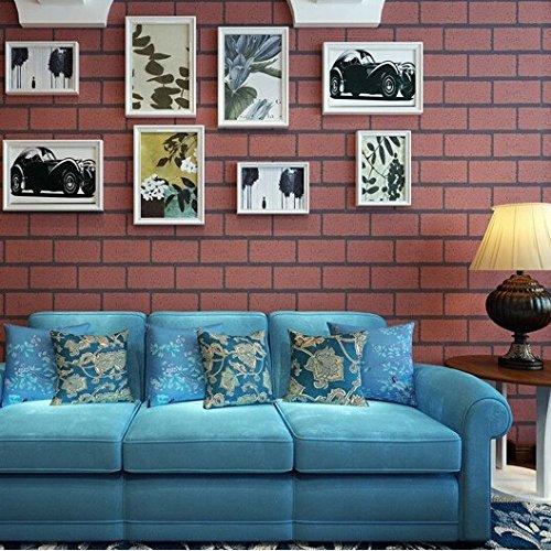 sbwylt-bricks e mortaio cultura pietra carta da parati sfondo camera da letto soggiorno moderno, decorazione, Abbigliamento Negozio, C