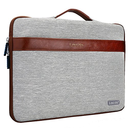"Lacdo 15.6 Zoll Wasserdichte Laptop Sleeve H¨¹llen Notebook Tasche f¨¹r Acer Aspire,Asus F555LA-AB31,Protective 15.6"" Ultrabook Toshiba Satellite, Dell Inspiron, Acer Aspire, HP Pavilion, Chromebook,Braun"