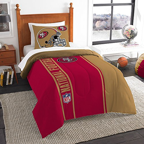 Northwest nor-1nfl835000013bbb 162,6 x 218,4 cm San Francisco 49ers NFL Soft & Cozy Twin Tröster - Tröster 49ers Set